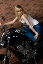 Free Sexy Girl On Motorbike Royalty Free Stock Images - 14008059