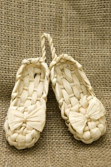 Free Lapty. Old Russian Sandals, Souvenir Stock Photography - 14000162
