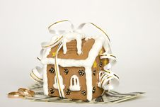 Free House Tied With Ribbon And Money Stock Photo - 14000570