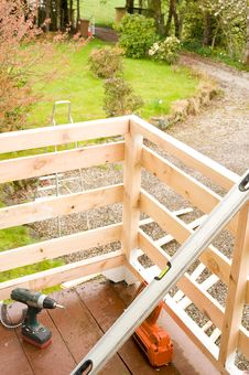 Free Replacing A Balcony : Joinery Detail. Stock Image - 14001851