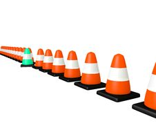 Line Of Cones Royalty Free Stock Photos