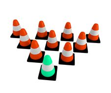 Free Traffic Cone Triangle Stock Image - 14002551