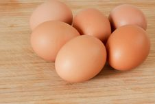 Free Half A Dozen Brown Farm Fresh Eggs. Royalty Free Stock Photography - 14002697