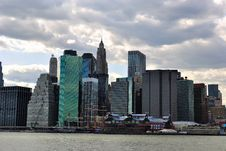 Free Lower Manhattan Skyline Royalty Free Stock Photography - 14002947