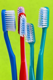 Free Colored Toothbrushes Royalty Free Stock Photos - 14003218