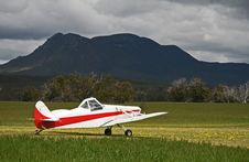 Ag Plane Is Sunshine Stock Image