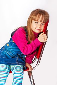 Portrait Of Little Girl Stock Photography