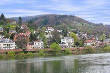 Free Houses At Neckar Riverbank In Heidelberg Royalty Free Stock Photo - 14005025