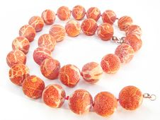 Free Coral Colored Beads Royalty Free Stock Photos - 14005358