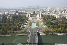 Paris From The Eiffel Tower, France Stock Images