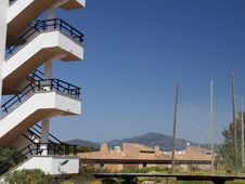 Free Repeated Stair Against Clear Blue Sky Royalty Free Stock Photos - 14005838
