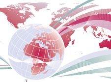 Abstract World Globe Design Stock Photo