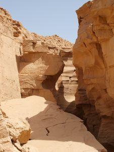 Free Limestone Canyon In Sinai Peninsula Royalty Free Stock Image - 14006296