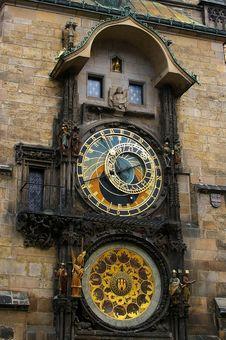 Free Astrological Clock Prague Stock Photography - 14006392
