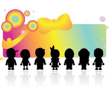 Free Silhouettes Children Stock Image - 14006521