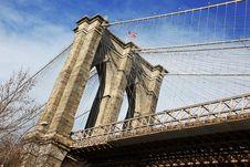 Free NY - Brooklyn Bridge Stock Image - 14006541