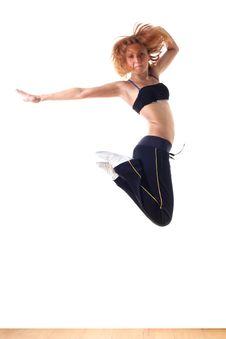 Free Jumping Modern Ballet Dancer Stock Photo - 14006650