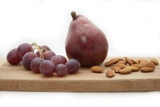 Free Pear, Grapes, Almonds Royalty Free Stock Image - 14006726