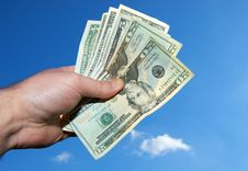 Free Hand Full Of Money Stock Photos - 14007693
