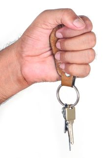 Free Human Hand With Keys Royalty Free Stock Photos - 14007718