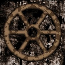 Free Old Rusted Wheel Royalty Free Stock Photography - 14007927