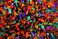 Free Zoom Blur Christmas Lights Royalty Free Stock Image - 14008106