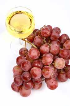 Free White Wine And Grapes Stock Image - 14008421