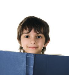Free Cute Little Boy With A Book Royalty Free Stock Photo - 14008795