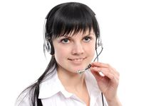Free Service Representative In Headset Royalty Free Stock Photography - 14008977