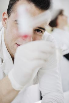 Free Young Scientist In Lab Royalty Free Stock Image - 14009166