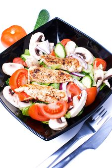 Free Chicken Salad Royalty Free Stock Photo - 14009315