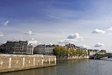 Scene  Of The Seine River,paris Stock Images