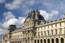 View Of Louvre Museum Stock Photography