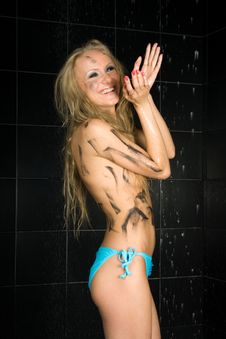 Free Sexy Wet Girl Royalty Free Stock Image - 14009796