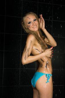 Free Sexy Wet Girl Stock Image - 14009831