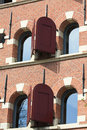 Free Historic Dutch Facade, Windows With Shutters Royalty Free Stock Images - 14013319