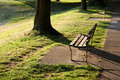 Free Empty Park Bench Royalty Free Stock Images - 14016739