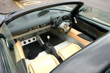 Free The Interior Of A Sports Car. Royalty Free Stock Image - 14010186