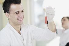 Young Scientist In Lab Royalty Free Stock Photos