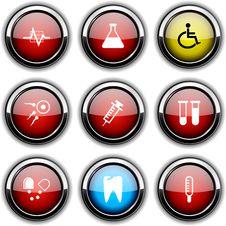Medical Icons. Royalty Free Stock Photo