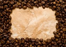 Coffee On An Old Paper Royalty Free Stock Photos