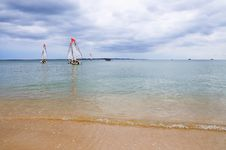 Free Several Boats With Sails Royalty Free Stock Photo - 14012295