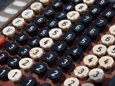 Free Vintage Keyboard Royalty Free Stock Images - 14012589