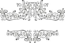 Free Black And White Ornament Royalty Free Stock Photo - 14012735