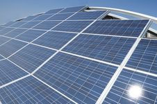 Free Photovoltaic Solar Panels Arrangement Stock Image - 14012851