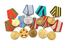 Collection Of Medals Stock Images