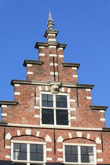 Traditional Dutch Crow Stepped Gable Stock Images