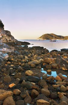 Free Twilight On The Sea Stock Photography - 14015062