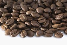 Free Coffee Beans On White Background Royalty Free Stock Photography - 14015077