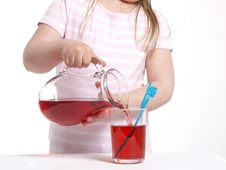 Free Pouring Juice Royalty Free Stock Photos - 14015218